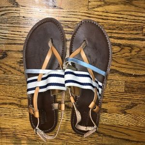 Tan and Navy Sandals